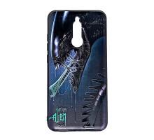 Чехол - накладка 'пластиковый матовый  - Alien' для Galaxy A405 A40 (2019) (цвет чёрно-синий, в паке