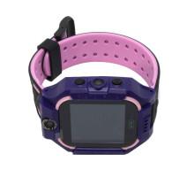 Часы детские Q19, с GPS трекером, чёрно-фиолетовые