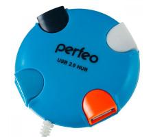 USB-Хаб Perfeo 4 Port, (PF-VI-H020) синий