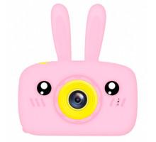 Фотоаппарат детский с силиконовым чехлом зайчик, pink