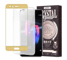 Защитное стекло 2,5D Huawei Mate 9 pro, gold, REMAX Crystal,+ чехол