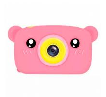 Фотоаппарат детский с силиконовым чехлом мишка, pink