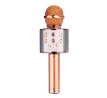 Микрофон BT, с колонкой, HANDHELD KTV WS-858, rose gold