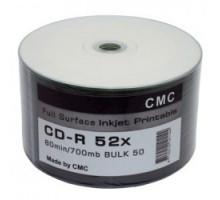 CD-R CMC 80 52x Full Ink Print полная заливка Bulk/50