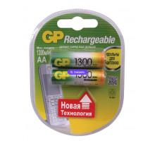 Аккумулятор GP R06 AA 1300mAh Ni-Mh, BL2, 2 шт в блистере Пластик