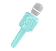 Микрофон BT, с колонкой, BOROFONE BF1, (Bluetooth, AUX, microSD, USB), голубой