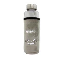 Бутылочка 400ml, Fashion Cup, с чехлом Totoro, grey