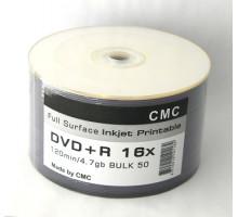 DVD+R CMC 4.7 Gb 16x Full Ink Print полная заливка Bulk/50
