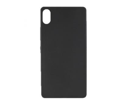Чехол-накладка Lenovo Vibe Shot, силиконовый, матовый, black