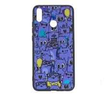 Чехол - накладка 'пластиковый лаковый с рисунком - Котики' для Xiaomi Redmi Go (цвет фиолетовый, в п