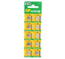 Батарейки GP AG12 LR43 186 386 GP86A, BL10, 10 шт в блистере