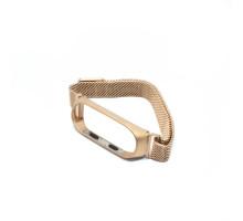 Ремешок MI Band 3/4 milanes с магнитом, розовое золото