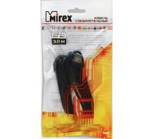 Кабель USB(m) - USB B(m) Mirex, черный, 3 м