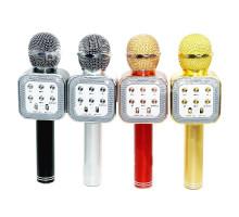 Микрофон BT, с колонкой, HANDHELD KTV WS-1818, rose gold