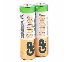 Батарейки GP LR06 AA 2 SH Super, 2SR, 2 шт в термопленке, (40 шт/уп)