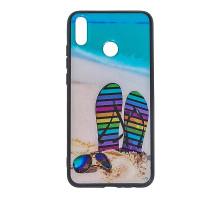 Чехол - накладка 'пластиковый лаковый с рисунком - Пляж' для Galaxy A205 A20/A305 A30 (2019) (цвет р