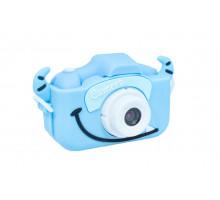 Фотоаппарат детский с силиконовым чехлом рогатый, голубой