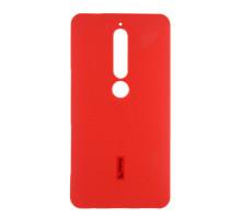Чехол-накладка Nokia 6 2018, cиликоновый, red, CHERRY CASE