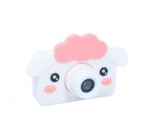 Фотоаппарат детский с силиконовым чехлом овечка, бело-розовая