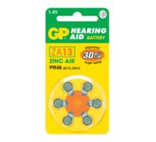 Батарейки GP ZA13, BL6, для слуховых аппаратов, BL6, 6 шт в блистере