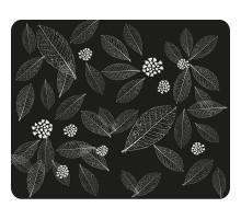 Коврик Dialog PM-H15 leafs - черный с рисунком листьев