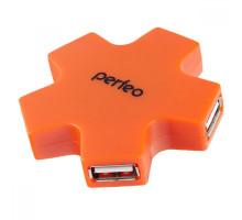 USB-Хаб Perfeo 4 Port, (PF-HYD-6098H Orange) оранжевый