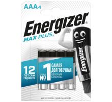 Батарейки Energizer LR03 AAA Max Plus, BL4, 4 шт в блистере