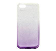 Чeхол-накладка iPhone 5/5S/5SE, силиконовый с блестками, градиент