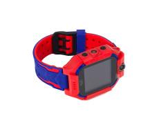 Часы детские Q19, с GPS трекером, фиолетово-красные