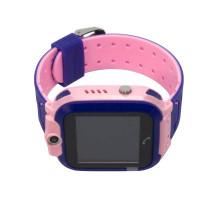 Часы детские Q12, с GPS трекером, розово-фиолетовые