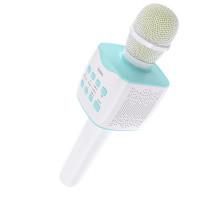 Микрофон BT, с колонкой, HOCO BK-5, (Bluetooth, AUX, microSD, USB) , бело-голубой