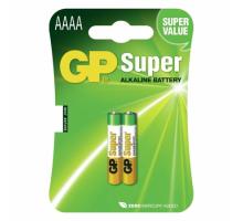 Батарейки GP LR61 AAAA BL2, 2 шт в блистере (24AU-OS2) LR8D425