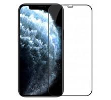 Защитное стекло 3D iPhone 12 Pro Max, чёрное, A, в тех.упаковке