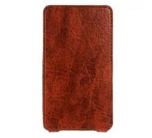 """Чехол-книжка Norton, Flip, 130 х 75 х 12мм (3,5"""" - 4,3""""), экокожа, цвет: коричневый"""