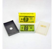 Карты игральные пластиковые Poker(P-020 Dollar)(54листа/пластик.коробка)