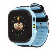 Часы детские F1, с GPS трекером, light blue