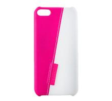 Чехол-накладка iPod Touch 5, white-pink, SOTOMORE