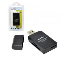 Картридер Jufon Multi-in-One USB 2.0 (SD, miniSD, microSD, SDHC, MMC, M2, MMS-DUO) черный