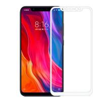 Защитное стекло 3D Xiaomi Mi 8/8 Pro, white, в тех.упаковке