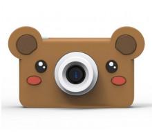 Фотоаппарат детский с силиконовым чехлом мишка, коричневый