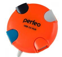 USB-Хаб Perfeo 4 Port, (PF-VI-H020) оранжевый
