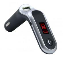 FM модулятор Earldom ET-C7, Bluetooth, USB, AUX, пластик, microSD, цвет: чёрный