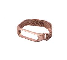 Ремешок MI Band 3/4 milanes с магнитом, розовый