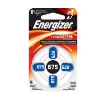 Батарейки Energizer ZA675, для слуховых аппаратов, 1,4V, BL4, 4 шт в блистере