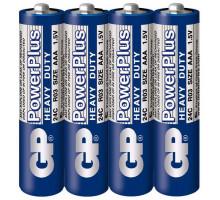 Батарейки GP R03 AAA 4SR, 4 шт в термопленке, PowerPlus (40 шт/уп)