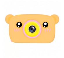 Фотоаппарат детский с силиконовым чехлом мишка, pink+orange