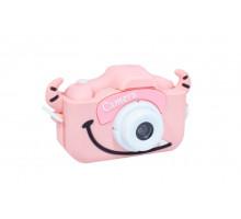 Фотоаппарат детский с силиконовым чехлом рогатый, розовый