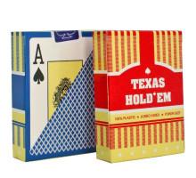 Карты игральные пластиковые Poker(P-007 Texas Hold'em)(54листа)(str)