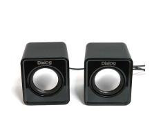Акустика Dialog Colibri AC-02UP Black 2.0, 6 Вт, черная, питание от USB