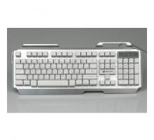 Клавиатура игровая Dialog KGK-25U Gan-Kata SILVER - с подсветкой 3 цвета , корпус металл, USB, сереб